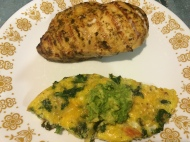 Mustard lime chicken & vegetable frittata