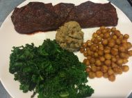 Steak Night! With roasted chickpeas